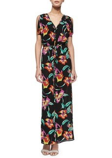 Joie Lunaria B Tropical-Print Maxi Dress