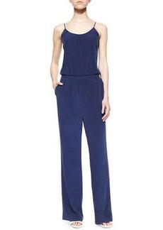 Joie Lundy Wide-Leg Silk Jumpsuit