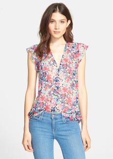 Joie 'Macy D' Floral Print Silk Top