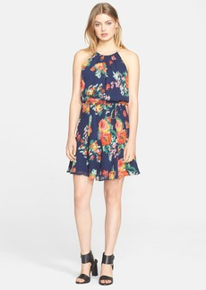 Joie 'Makana' Floral Print Silk Halter Dress