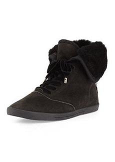 Joie Marist Shearling-Lined Sneaker, Black