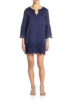 Joie Marne Embroidered Eyelet Tunic Dress