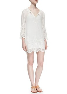 Joie Marne Embroidered Eyelet Voile Dress