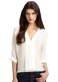 Joie Marru Pleated Silk Blouse