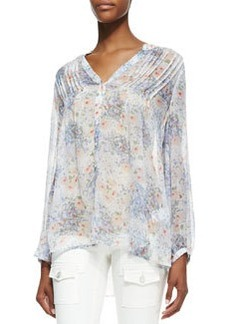 Joie Martine C Floral-Print Long-Sleeve Blouse