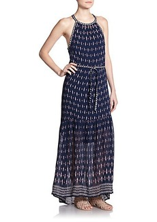 Joie Maryanna Printed Silk Maxi Dress