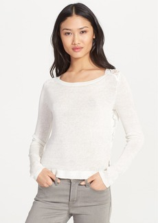 Joie 'Matrika' Lace Back Linen Pullover