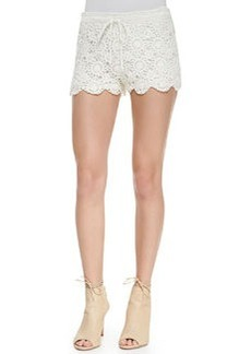 Joie Maylie Cotton Lace Shorts, Porcelain
