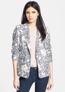 Joie 'Mehira' Animal Print Linen Blazer