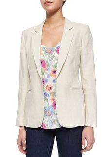 Joie Mehira Long-Sleeve Linen Blazer