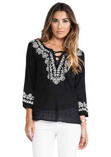 Joie Melenia Embroidered Blouse