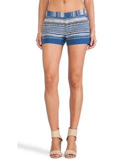 Joie Merci Ethnic Multistripe Shorts in Blue
