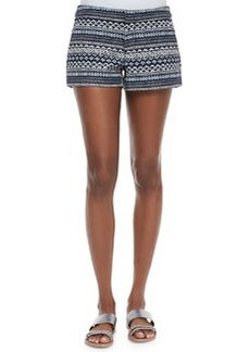Joie Merci Low-Rise Tweed Shorts