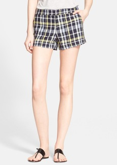 Joie 'Merci' Plaid Linen Shorts