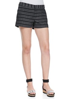 Joie Merci Textured-Stripe Shorts