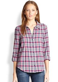 Joie Michaela Plaid Cotton Flannel Shirt