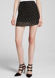 Joie Mini Skirt - Loubelle Allover Embellishment