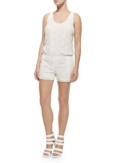 Joie Misael Sleeveless Crochet Short Jumpsuit