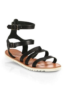 Joie Montezuma Leather Ankle-Strap Sandals