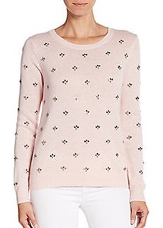 Joie Myron Embellished Wool & Cashmere Sweater