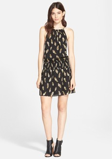 Joie 'Nahal B' Feather Print Silk Dress