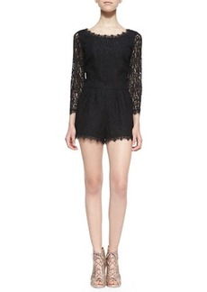 Joie Nali Long-Sleeve Lace Jumpsuit