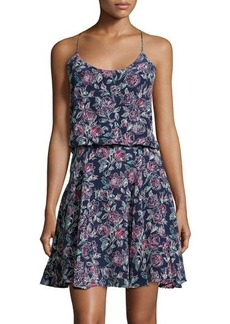 Joie Nanon Floral Silk Racerback Dress