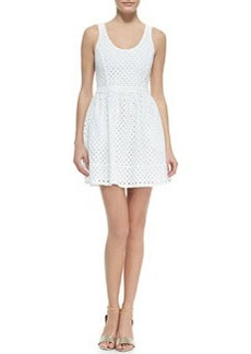Joie Natrina Eyelet Sleeveless Dress