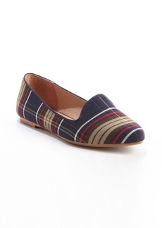 Joie navy plaid 'Day Dreaming' pointed toe smoking flats