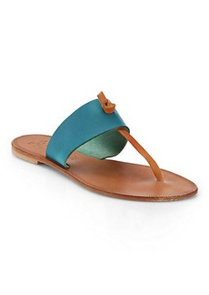 Joie Nice Bicolor Leather Thong Sandals