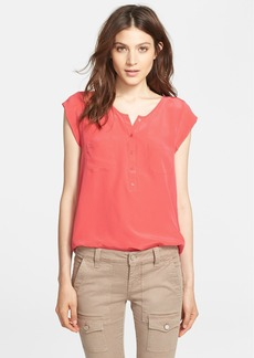 Joie 'Nicoline' Cap Sleeve Silk Blouse