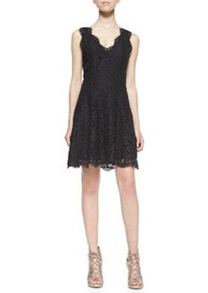 Joie Nikolina Sleeveless Lace A-Line Dress