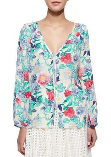 Joie Ollie Floral-Print Blouse