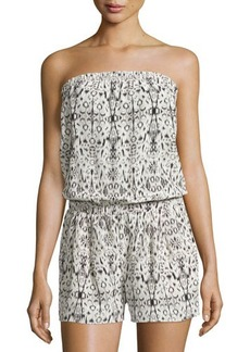 Joie Olwyn Strapless Printed Short Jumpsuit