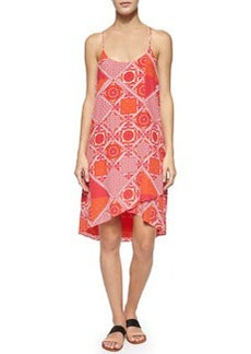 Joie Ondria Patchwork-Print Sleeveless Dress