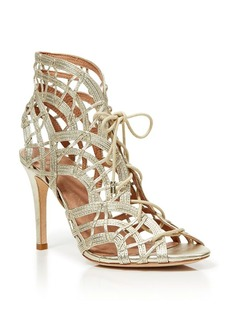 Joie Open Toe Caged Ghillie Lace Up Sandals - Leah High Heel