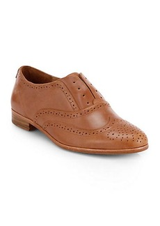 Joie Otis Perforated Leather Laceless Loafers