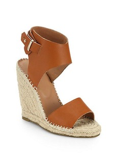 Joie Palo Leather Espadrille Wedge Sandals
