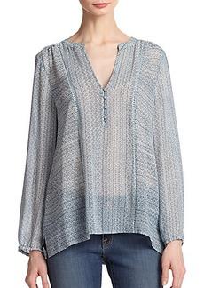 Joie Parmena Printed Silk Tunic