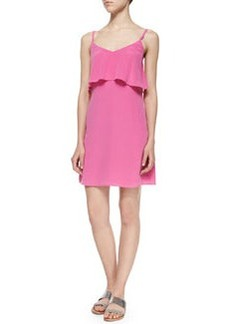 Joie Parthena B Front-Ruffle Silk Dress