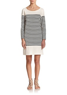 Joie Pentea Cotton Stripe Tee Dress