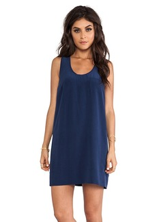 Joie Peri C Scalloped Edge Dress in Navy