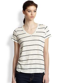 Joie Petrella Striped Linen Tee