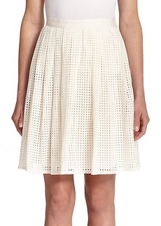 Joie Lissome Pleated Eyelet Skirt