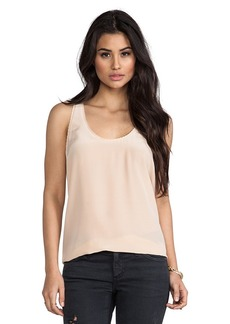 Joie Rain F Scalloped Edge Blouse in Peach