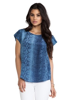 Joie Rancher Snake Printed Tee in Blue