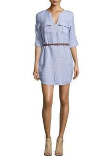 Joie Rathana Belted Linen Dress