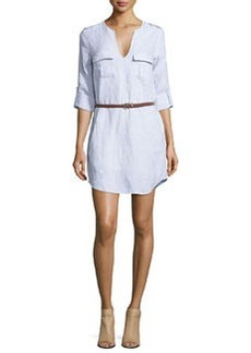 Joie Rathana Belted Linen Dress