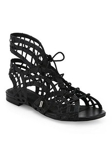 Joie Renee Caged Leather Gladiator Sandals