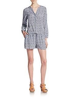 Joie Rialto Silk Short Jumpsuit